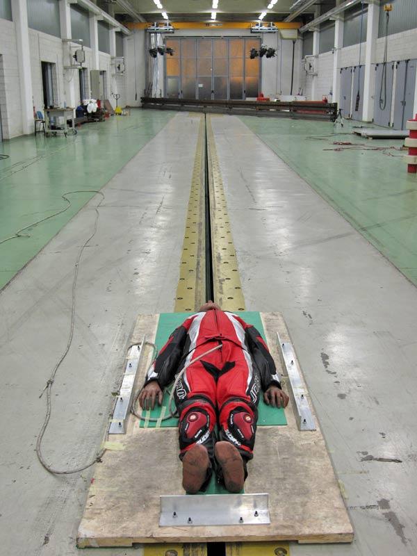 Crash Test per la Protezione dei Motociclisti effettuato al Laboratorio di Sicurezza dei Trasporti (LaST) di Milano - 2008
