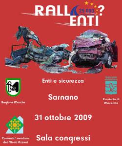 Locandina Convegno RallEnti - Sarnano (MC) 31 Ottobre 2009