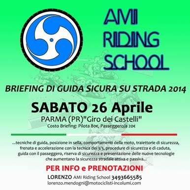 AMI Riding School - Briefing di Guida Sicura Su Strada - Giro dei Castelli - 26 Aprile 2014