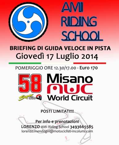 AMI Riding School - Corso di Guida Veloce in Pista a Misano Adriatico (RN) - 17 Luglio 2014
