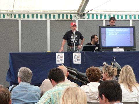 AMI all'Expo Motori Bikers and Show 2006 - Marco Guidarini, presidente AMI, Associazione Motociclisti Incolumi