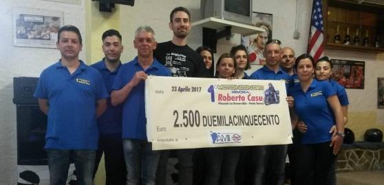 Donati 2500 Euro ad A.M.I. Associazione Motociclisti Incolumi per l'installazione di guardrail salva-motociclisti.