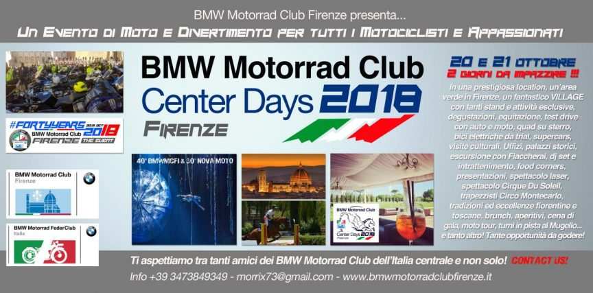 BMW Motorrad Center days Firenze 2018