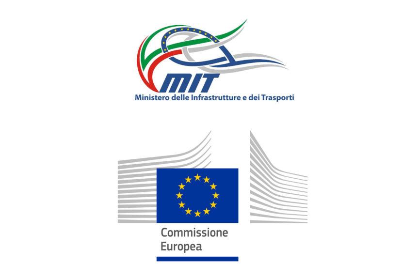 Loghi Ministero dei Trasporti e Commissione europea